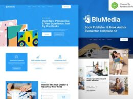 BluMedia – Book Publisher Book Author Elementor Template Kit