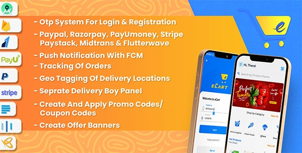 Codecanyon – eCart – Grocery Food Delivery Fruits Vegetable store Full Android Ecommerce App v2.0.13