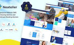 Codecanyon Neateller Multipurpose Website CMS with Cleaning Service and Appointment Booking System v1.3 Nulled