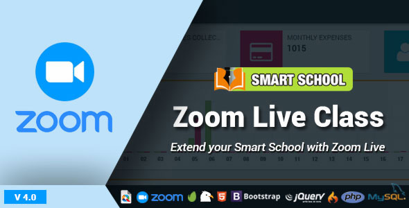Codecanyon Smart School Zoom Live Class v4.0 Nulled