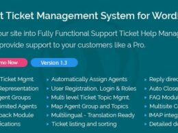 Codecanyon Support Ticket Management System for WordPress v1.4 Nulled