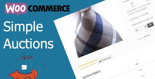 Codecanyon WooCommerce Simple Auctions WordPress Auctions v2.0.5