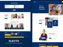 Electo Electricity Services Elementor Template Kit