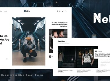 Nelly Blog and Magazine Ghost Theme