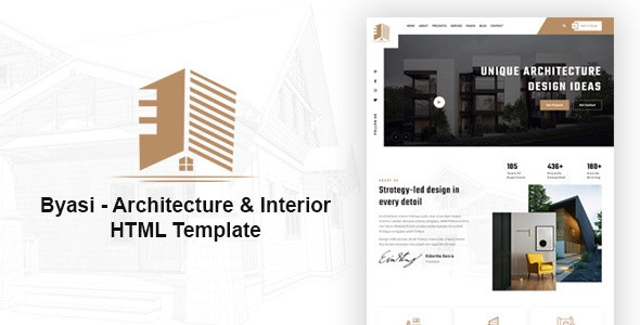 Byasi Architecture and Interior HTML Template