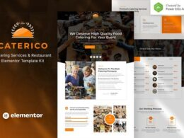 Caterico – Catering Services Restaurant Elementor Template Kit