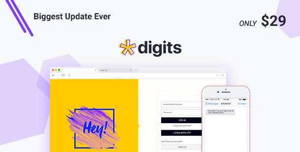 Codecanyon – Digits WordPress Mobile Number Signup and Login v7.8.1.1 Nulled
