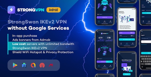 Codecanyon – StrongVPN StrongSwan IKEv2 VPN stable free VPN proxy for Android v1.4