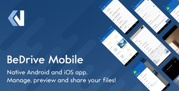Codecanyon BeDrive Mobile Native Flutter Android and iOS app for File Storage PHP Script v1.0.5