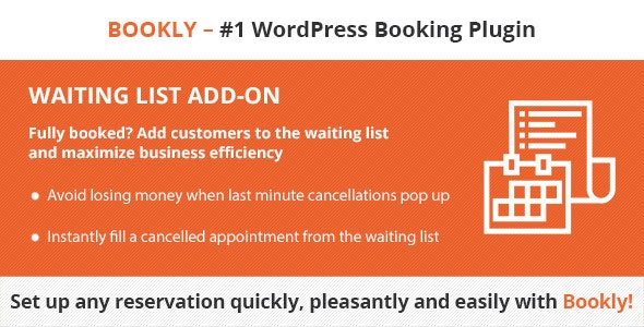 Codecanyon Bookly Waiting List Add on v2.3