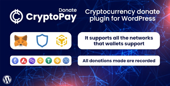 Codecanyon CryptoPay Donate Cryptocurrency donate plugin for WordPress v1.0