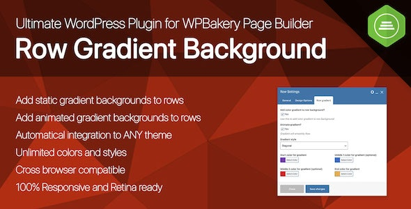 Codecanyon Ultimate Row Gradient Background for WPBakery Page Builder WordPress plugin v1.0