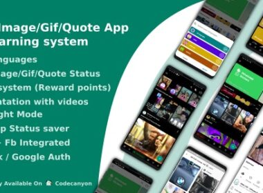 Codecanyon VideoImageGifQuote App With Earning system Reward points v4.1 Nulled