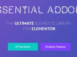 Essential Addons – Most Populars Elements Library For Elementor v4.4.11 Nulled