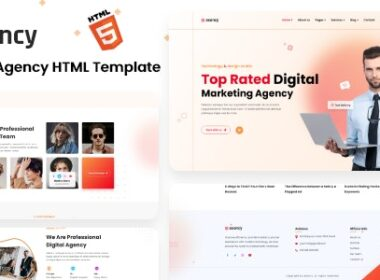 Exency Marketing Agency Html5 Template