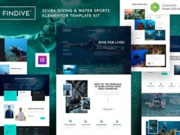 Findive – Scuba Diving Water Sports Elementor Template Kit