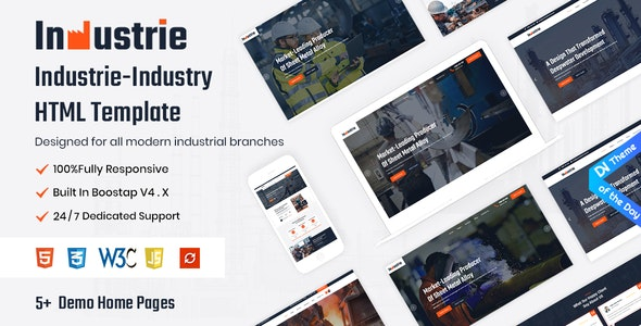 Industrie Industry HTML5 Template