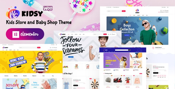 Kidsy – Kids Store and Baby Shop WooCommerce Theme v1.0