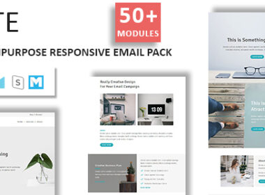 Lite Email Template Multipurpose Responsive with Stampready Builder Access Updated