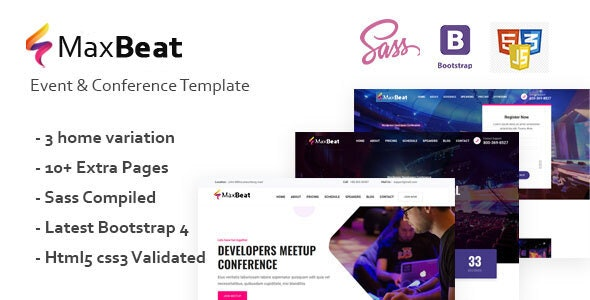Maxbeat Event Conference HTML5 Template v1.1