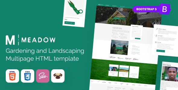 Meadow Gardening Lawn Care HTML5 Template Rip