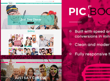 Picbooth Complete Photobooth Photography HTML Site Template v1.0