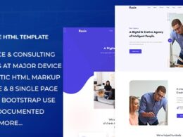Rasin Business Consulting HTML Template Rip